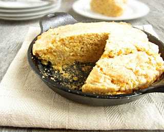 Skillet Whole Wheat Cheesy Cornbread