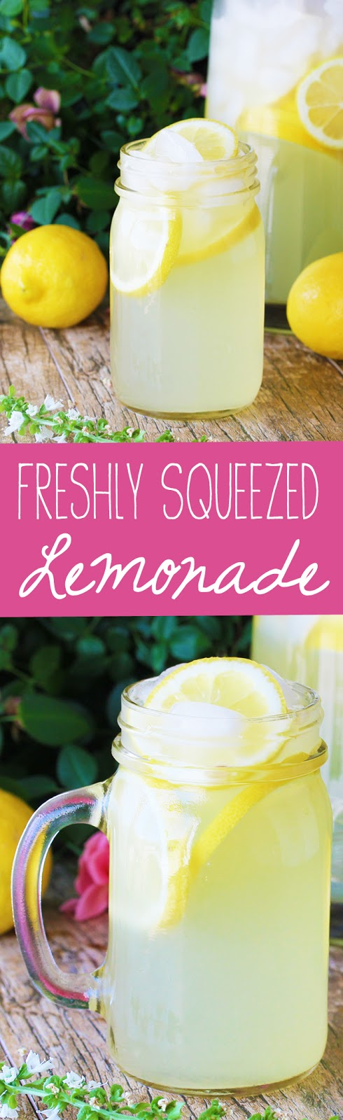 Learn how to make old fashioned, freshly squeeze homemade lemonade using real lemons. Quench your thirst this summer with your own easy homemade lemonade!