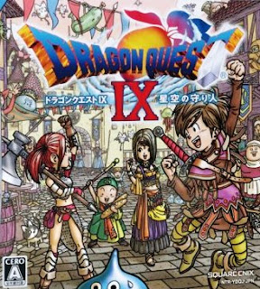 Imagen con el arte gráfico del cartucho de Dragon Quest IX, Nintendo DS, Square-Enix, 2009