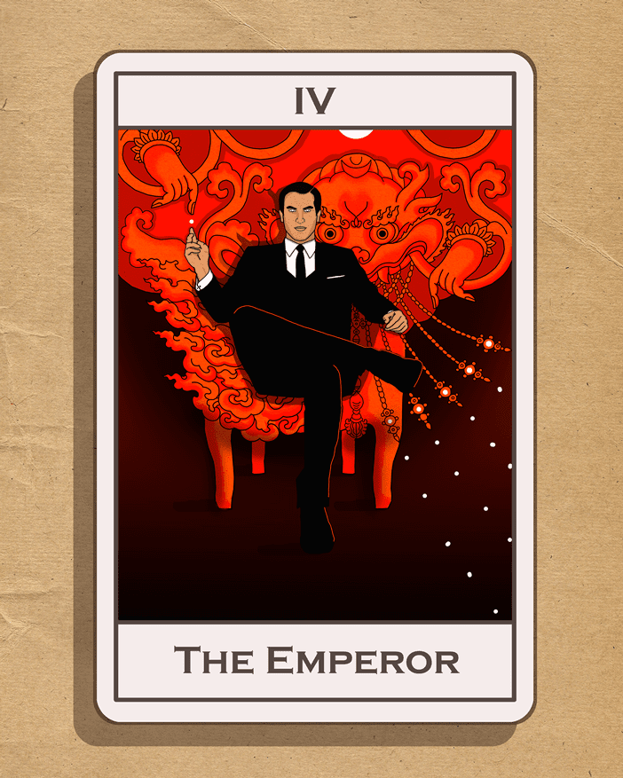 illustrator Olga Rukina. Tarot. The Emperor.