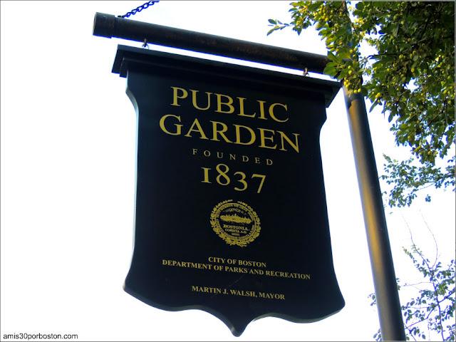 Una de las Placas del Boston Public Garden