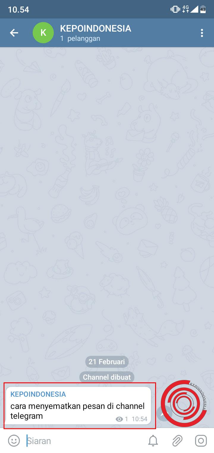 Cara Menyematkan Pesan Di Channel Telegram Dengan Pin Kepoindonesia