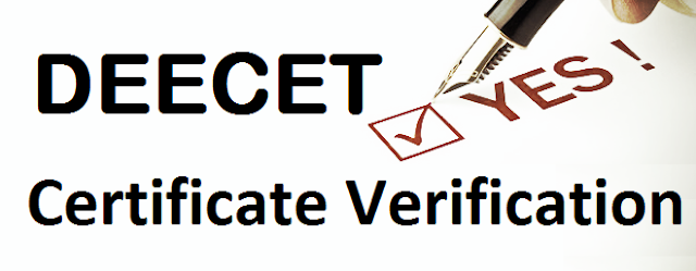 Download DEECET Provisional Admission Letter, DEECET.CGG.GOV.IN Certificate Verification, D.Ed Colleges,DEECET Final Admission Letter for Join into D.ed College,Know  D.ed College Fee Particulars, Required Documents,certificates for Verification at District Level