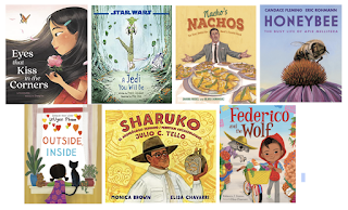 cover images for seven picture books that are mentioned below