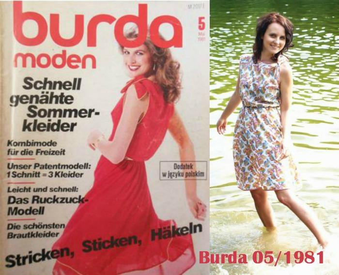Sukienka z Burda 1981/05