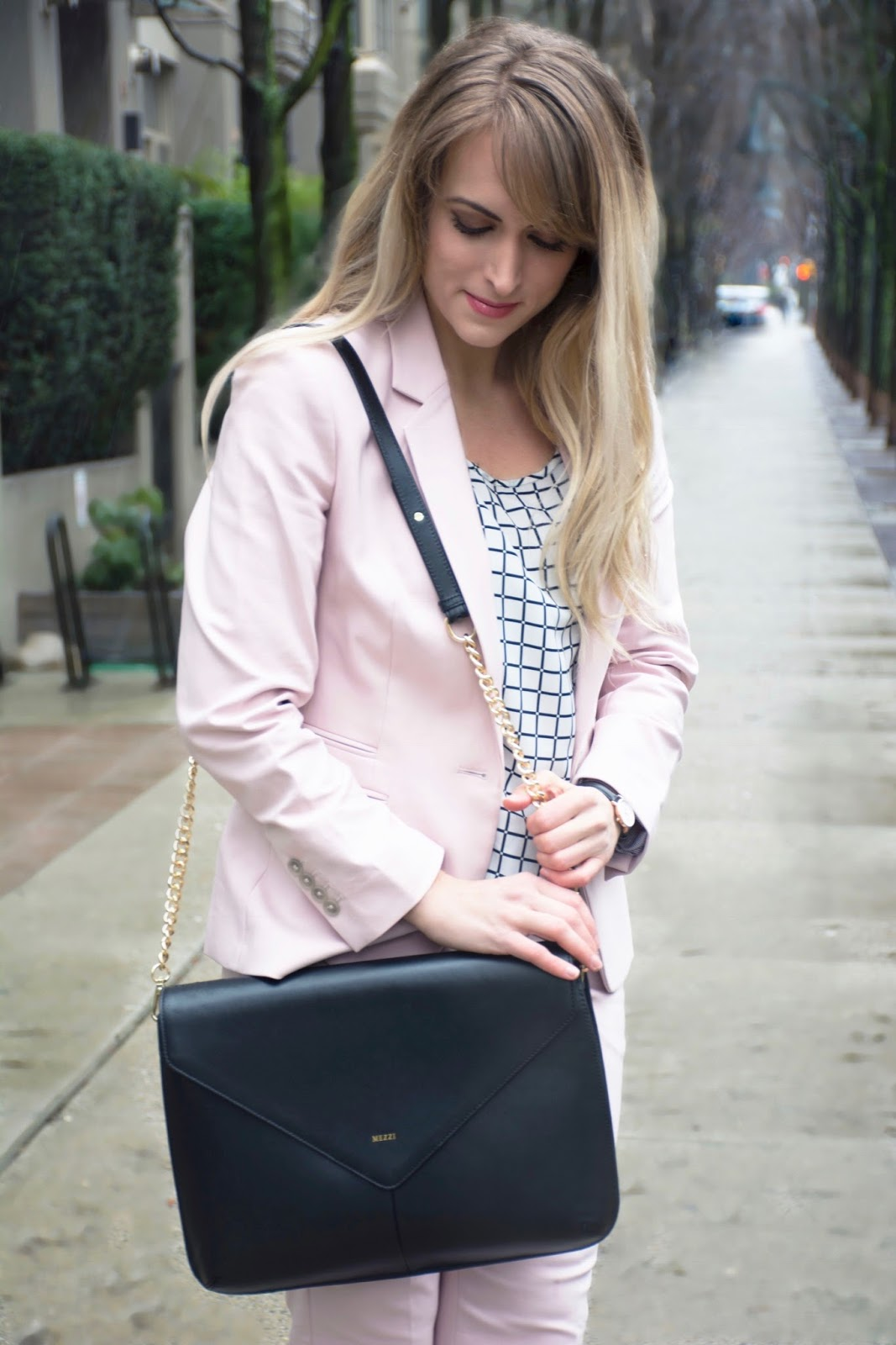 what to wear with a pink blazer