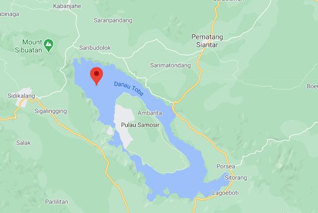 Lokasi Wisata alam Danau Toba