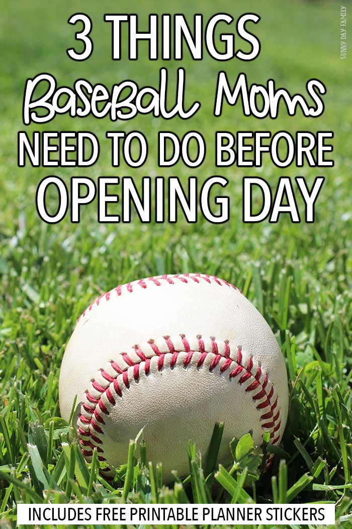 Baseball moms! Get organized for a great season with these easy tips plus FREE printable baseball planner stickers. Love these ideas for getting your kids ready for baseball season without the stress.