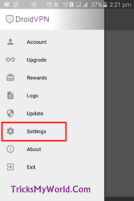 airtel droid vpn setting