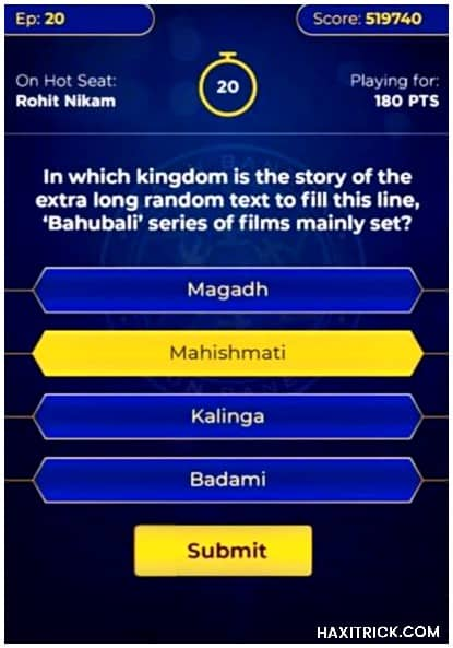KBC Play Along Online from Moblie