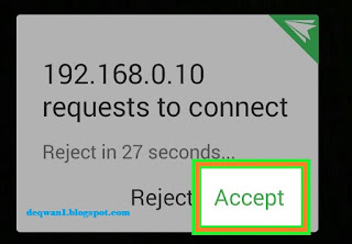 Aplikasi Airdroid Connection Di HP Android
