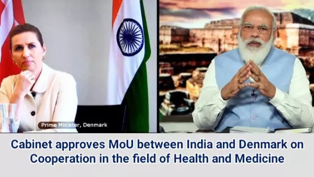 Cabinet approves MoU between India and Denmark on Cooperation in the field of Health and Medicine   Daily Current Affairs Dose