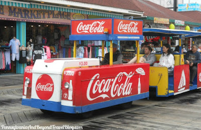 The Famous Sightseer Tram Car in Wildwood New Jersey