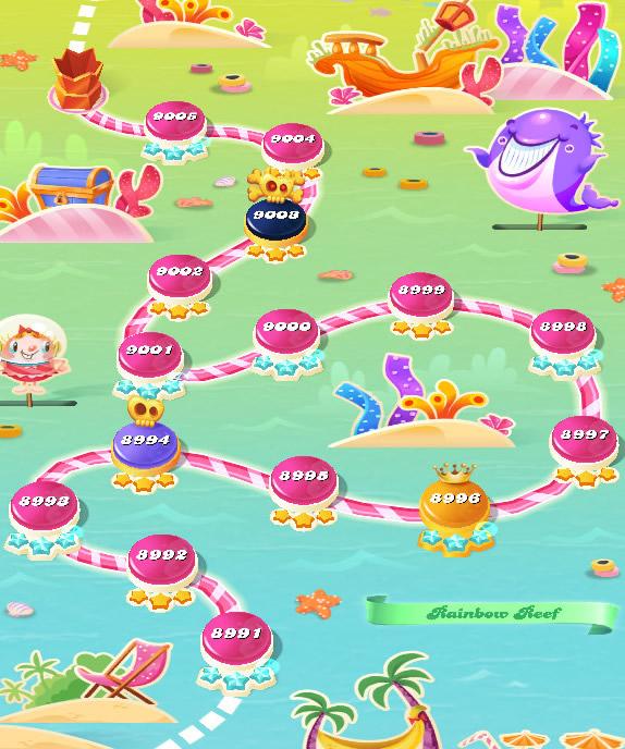Candy Crush Saga level 8991-9005