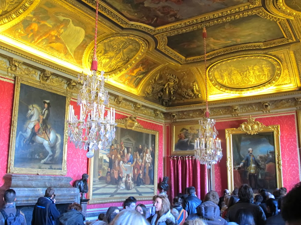 Crowd at the Palace of Versailles, France, Europe travel