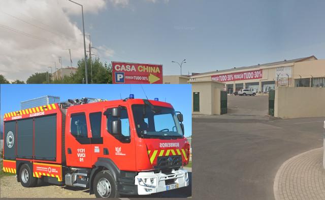 """Misterioso incêndio na antiga """"Luta"""" e """"Casa China"""" em Alcoitão debelado pelos Bombeiros de Alcabideche"""