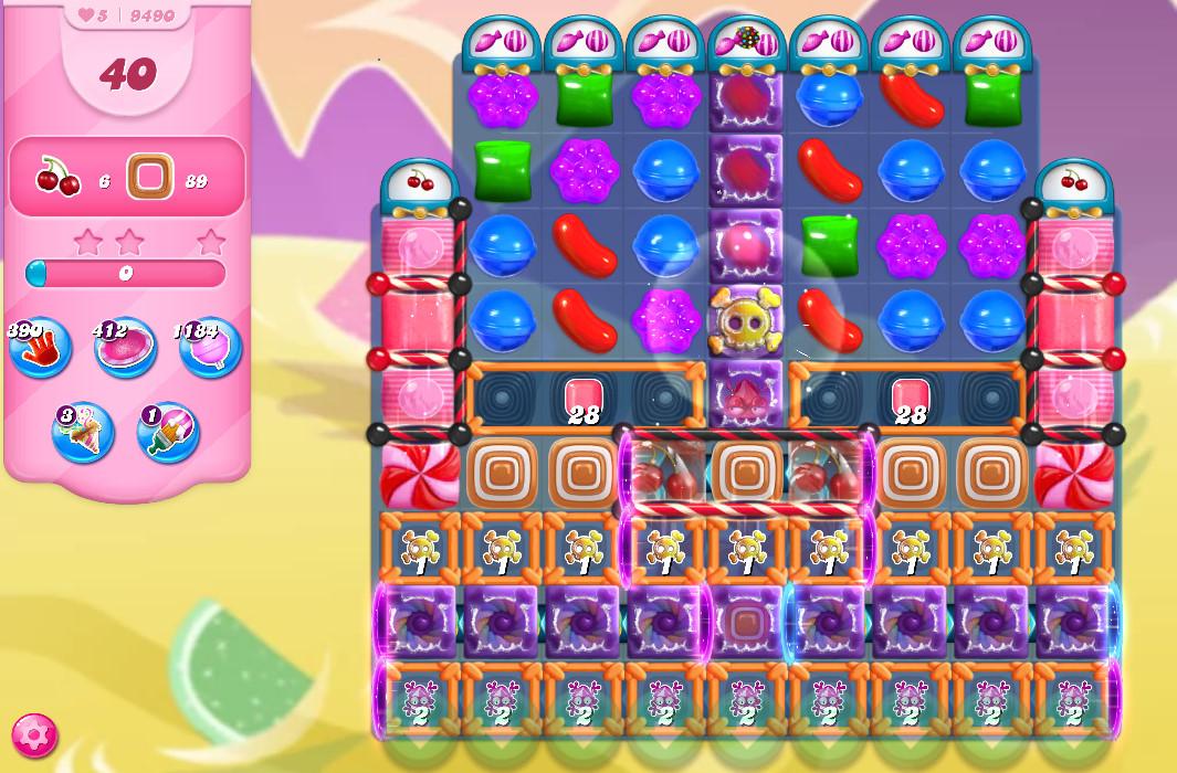 Candy Crush Saga level 9490