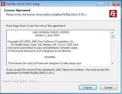 Konfirmasi install FileZilla