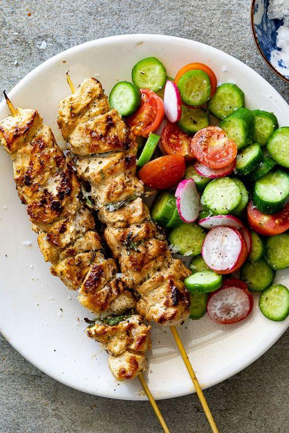 Best and Easy Herby Lemon Chicken Skewers