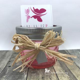 Mason Jar Business Card Holder