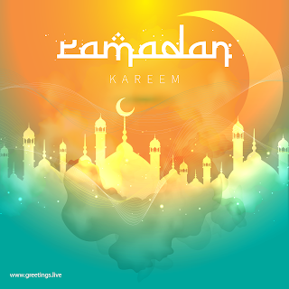 Beautiful Pictures of Ramadan Kareem mosque crescent moon