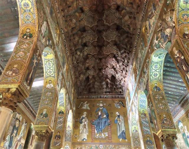 mosaico parete ovest Cappella Palatina