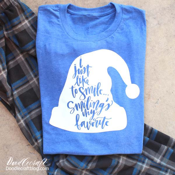 Smilings My Favorite Elf-Inspired Shirt made with the Cricut Maker for a great holiday gift