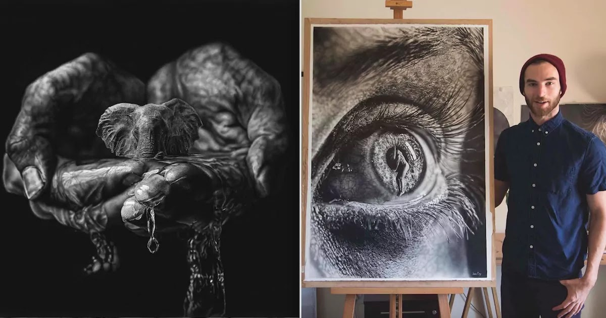 Artist's Magnificent Pencil Drawings Exhibit An Impressive Blend Of Surrealism And Hyperrealism