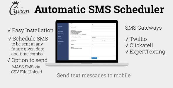 PHP Automatic SMS Scheduler v1.3