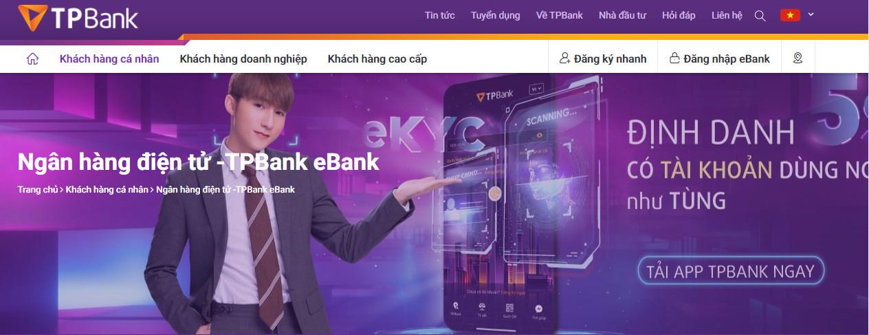 Mở thẻ ATM TPBank online