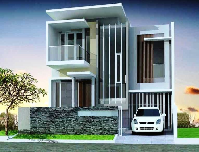 42 Gambar Rumah Minimalis Modern Terbaru 2 Lantai Gratis