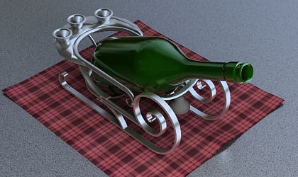 wine holder 3d model free