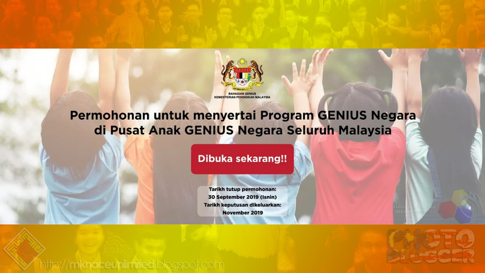 Program Genius Negara Permohonan Dibuka