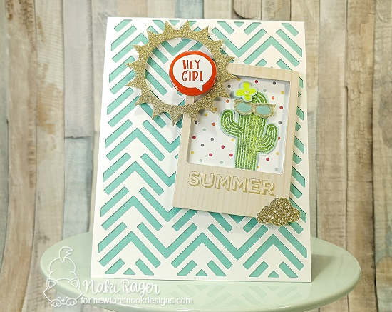 Summer Cactus Card by Naki Rager | Cultivated Cacti stamp set by Newton's Nook Designs #newtonsnook #handmade
