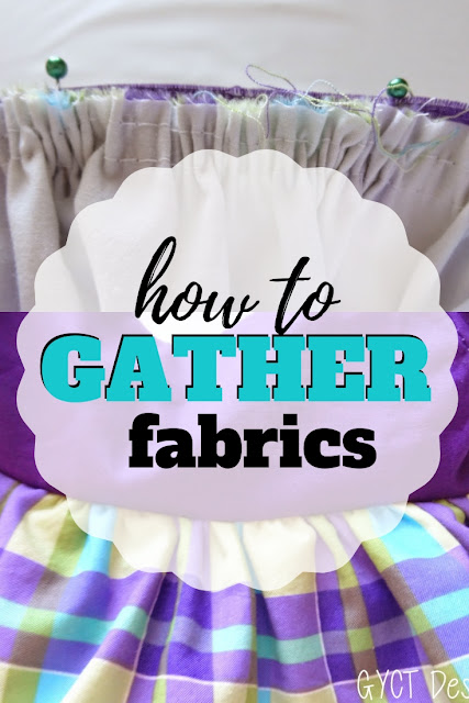Learn how to gather fabric with this simple tutorial on how to sew gathers.