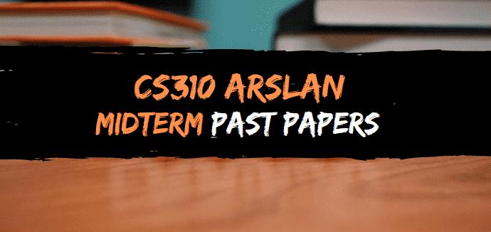 cs301 arslan