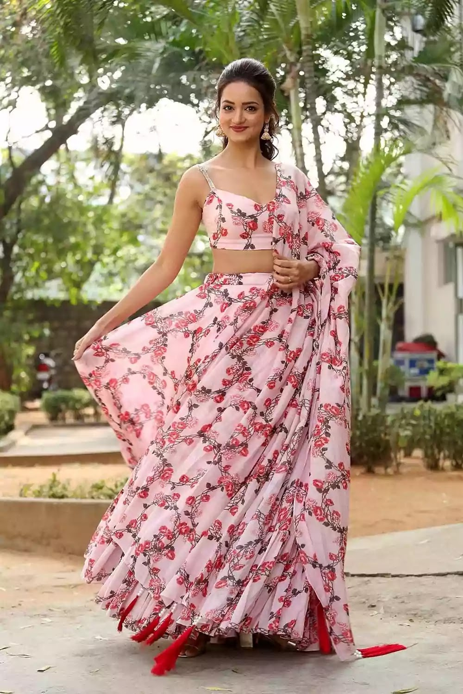 shanvi-srivastava-in-pink-lehenga