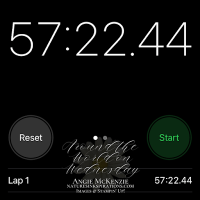 Stopwatch time to complete 20 note cards (excluding cardstock cutting time)
