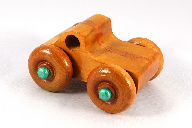Handmade Wood Toy Monster Truck, Based on the Play Pal Series Pickup Truck