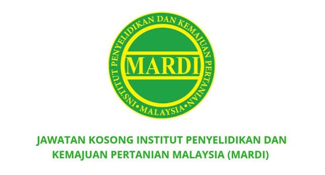 Jawatan Kosong MARDI 2021 (Institut Penyelidikan Dan Kemajuan Pertanian Malaysia)