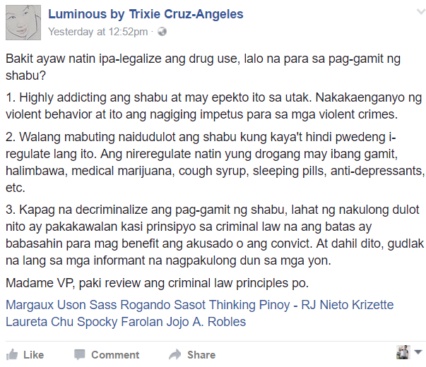 Fearless lawyer slams Leni: 'Pakireview ang criminal law principles'