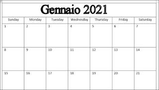 Word: calendario completo