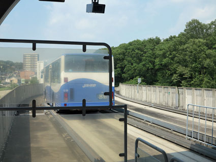 Yutorito Line bus, Nagoya, Aichi, Japan