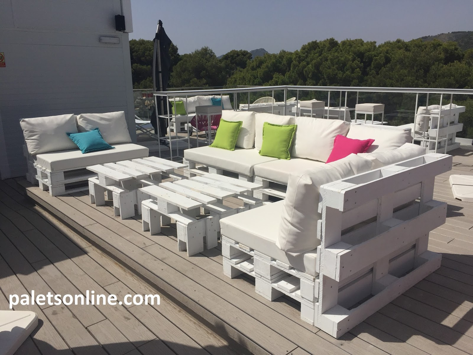 chill out europalets color blanco paletsonlinecom - Chill Out Con Palets