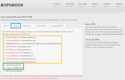 Setting VPN PPTP Di Windows 10 Menggunakan Akun Dari VPNBook