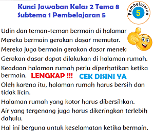 Lengkap Kunci Jawaban Kelas 2 Tema 8 Subtema 1 Pembelajaran 5 Jawaban Tematik Terbaru