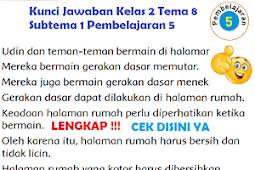 LENGKAP !!! Kunci Jawaban Kelas 2 Tema 8 Subtema 1 Pembelajaran 5