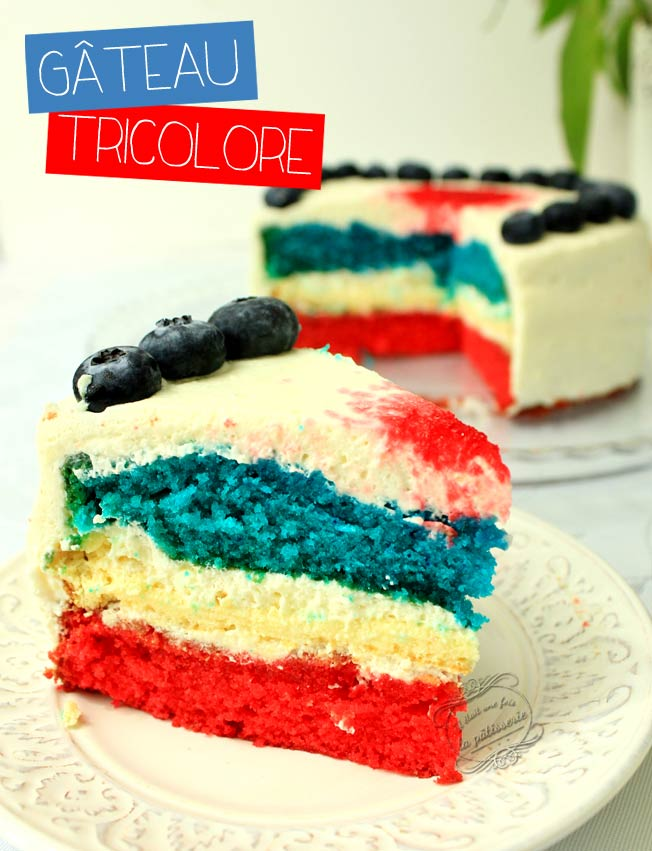 gateau tricolore france