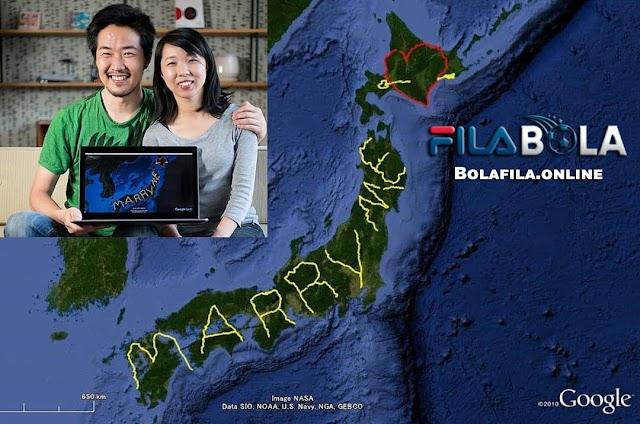 Lamaran Terunik, Seorang Pria Jepang Rela Berkelana Hingga 6 Bulan Untuk Memberikan Kejutan Kepada Kekasihnya