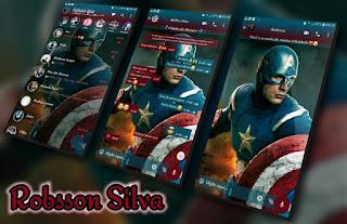 Captain America Theme For YOWhatsApp & Fouad WhatsApp By Robsson